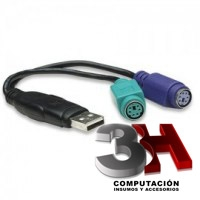 CABLE ADAPTADOR DE USB A 2 PS2