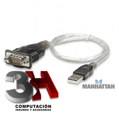 CABLE ADAPTADOR USB A SERIE MANHATTAN