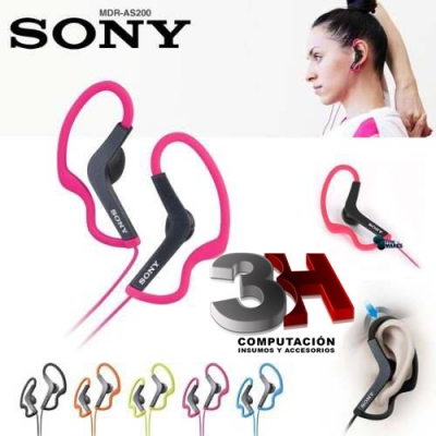 AURICULARES SONY MDRAS200 BLACK ACTIVE SPORT In-Ea