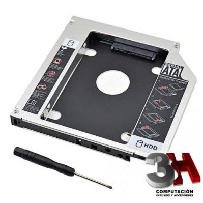 CADDY PARA DISCO SSD Y HDD 2.5 NOTEBOOK